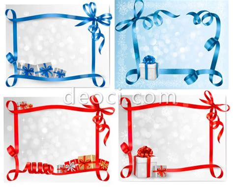 eps format border design free download 7 vector colorful ribbons border gift box illustrator eps