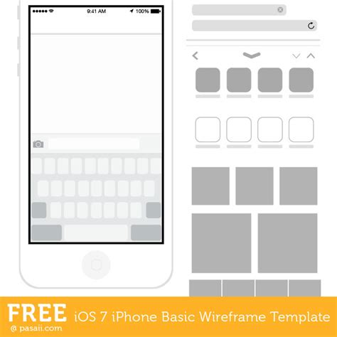 adobe illustrator iphone template free ios 7 iphone wireframe illustrator template