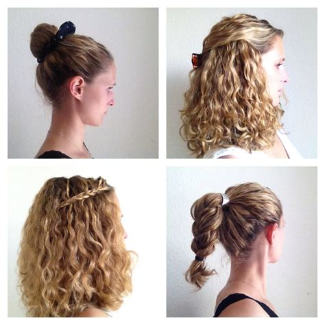 Easy Hairstyles For Curly Hair by Four Styling Ideas For Curly Hair Justcurly
