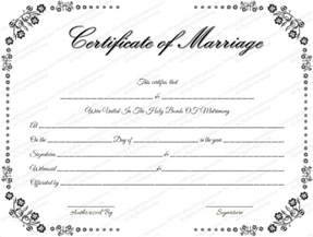 template of marriage certificate wedding certificate template 22 free psd ai vector