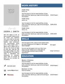 Free Downloadable Resume Templates Microsoft Word by Free Microsoft Word Resume Template Superpixel