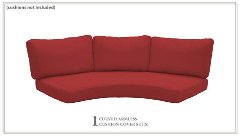 covers  high  curved armless sofa cushions  inches