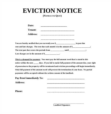 eviction letter templates eviction notice template doliquid