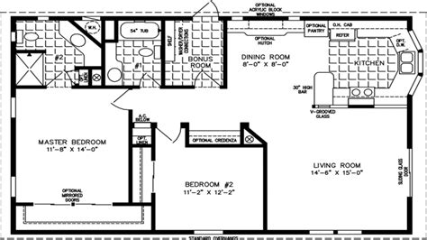 1000 sq ft home floor plans 1000 square foot modular home