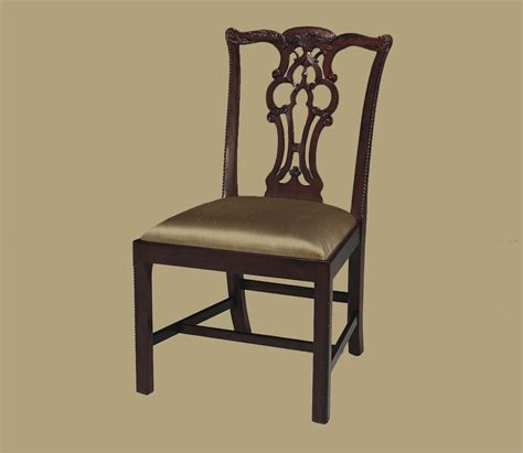 mahogany leg chippendale chairs formal dining chairs