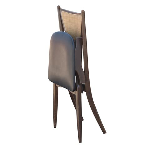 Modern Folding Chairs | 6 stakmore mid century modern cane back folding chairs