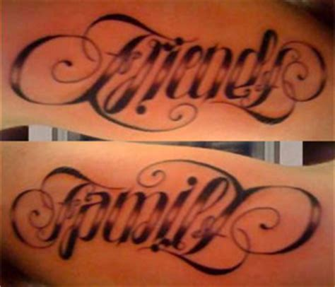 tattoo family friends help frame that shows a message when looked at thru a