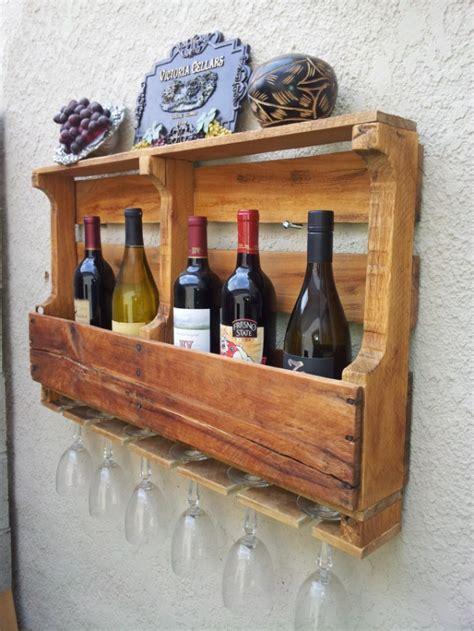 Wine Rack Board by Recycled Pallet Board Wine Rack Aftcra