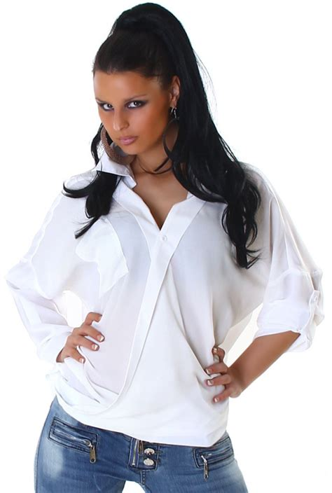 Oversize Hemd Damen bluse shirt top langarm hemd oversize damen casual
