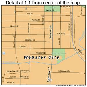 map of webster webster city iowa map 1983145