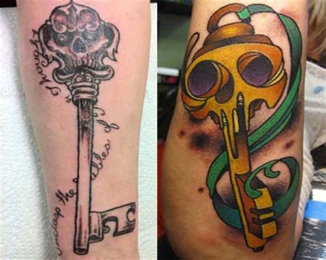 skeleton key tattoos designs skeleton key tattoos cool exles ideas their meanings