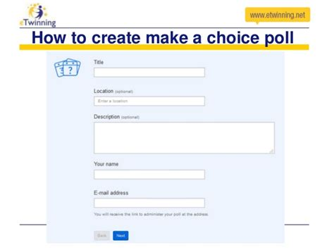 how to create a poll on doodle e twinning ambassador webinar about doodle by nataša
