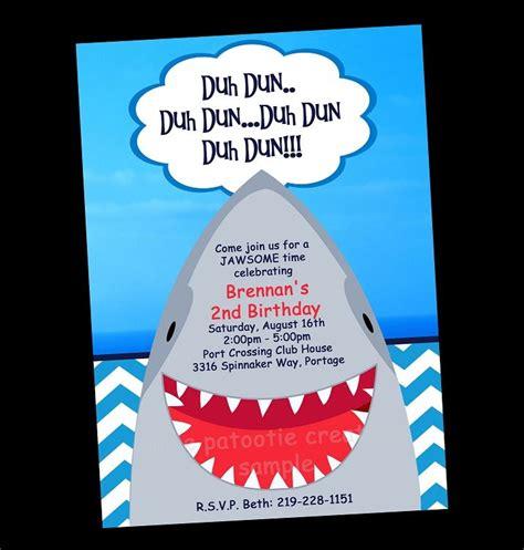 Free Printable Shark Party Invitations Keenan S 5th Birthday Pinterest Shark Party Shark Birthday Invitation Template