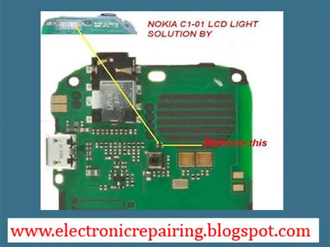 Lcd Nokia C1 01 Oc A nokia c1 01 lcd light jumper solution electronic repairing