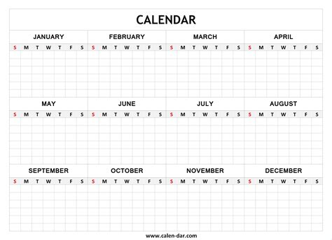 annual calendar template editable yearly calendar 2018 year printable calendar