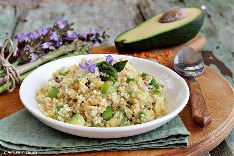 cucinare miglio miglio e lenticchie rosse con asparagi e avocado 2