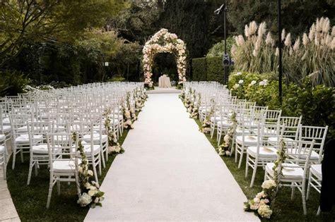 Wedding Aisle Runner Singapore by Gorgeous Alfresco Garden Wedding In Bel Air California