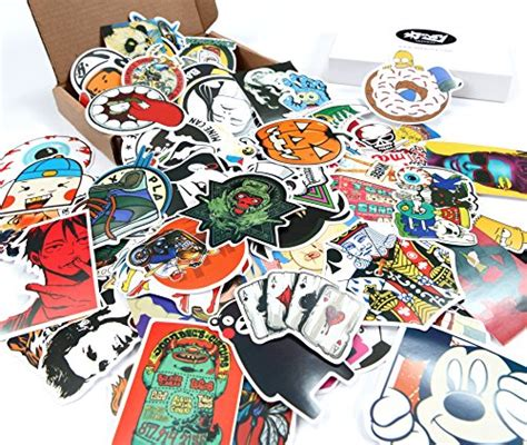 Bumper Motif Random skenoy random stickers car bike travel suitcase phone decals mix lot fashion cool for cheap
