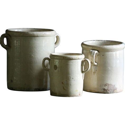 pots for sale antique italian glazed confit pots 19th century