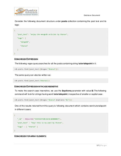pattern matching tutorialspoint mongodb doc v1 5