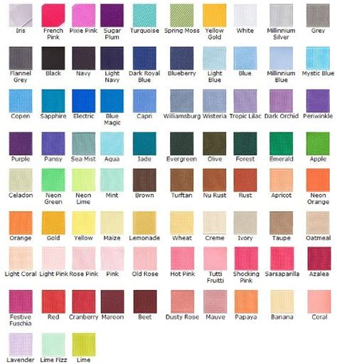 bug bowtique color chart availabe colors ribbon material and size