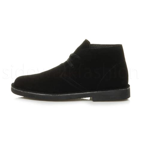mens casual suede boots mens lace up classic desert suede leather casual ankle