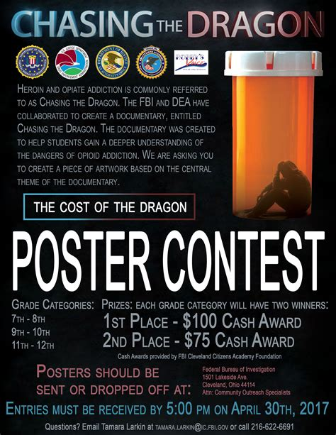poster design contest rules cleveland chasing the dragon poster contest fbi
