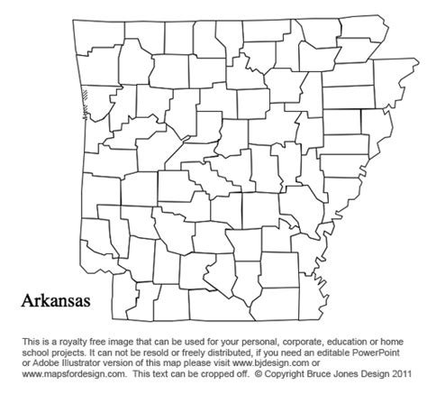Arkansas County Outline Map by Alabama To Us County Maps