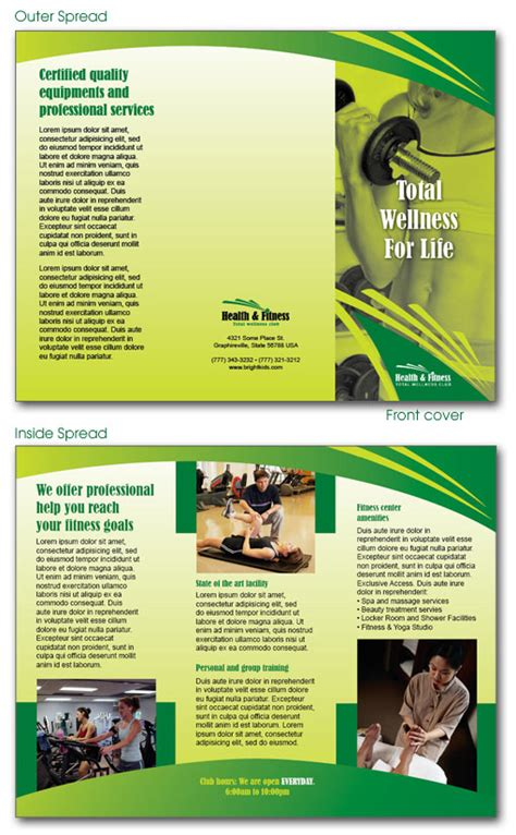 indesign free brochure templates free indesign templates daycare preschool and health