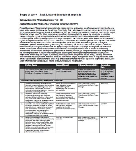 task list template free microsoft word templates free