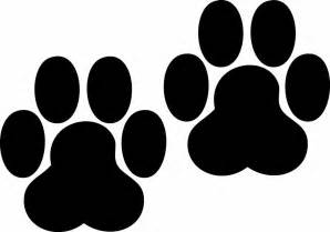 dog paw prints pictures clipart