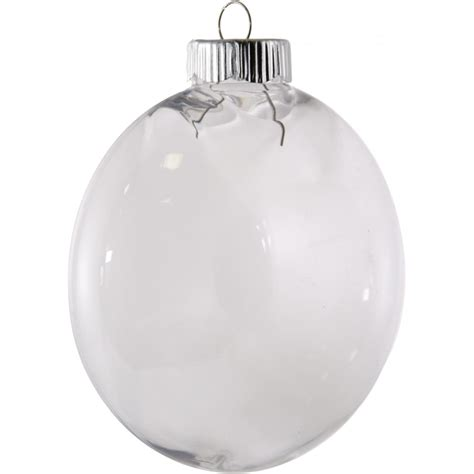clear oval ball plastic ornament 100mm 2610 66