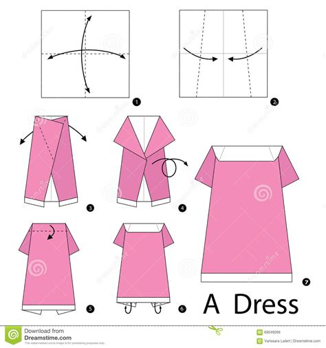 How To Make An Origami Dress - step by step how to make origami a dress