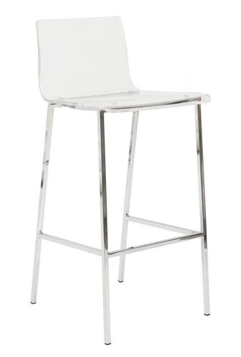 Clear Acrylic Bar Stool Clear Bar Stool Acrylic Chrome The Crib Pinterest