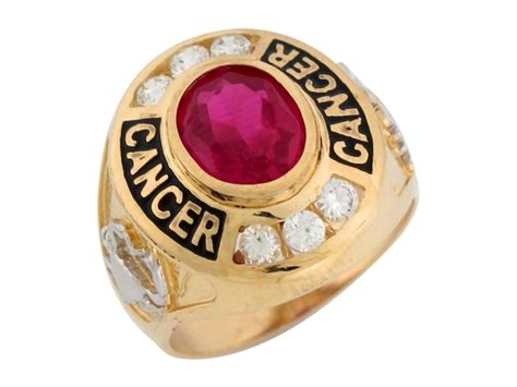 two tone gold simulated ruby cz july birthstone cancer