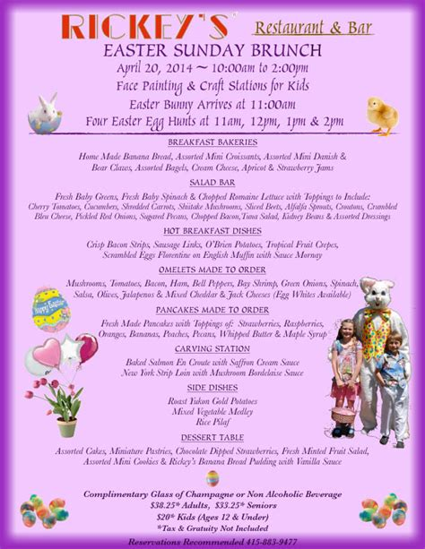 easter brunch buffet menu ideas easter sunday brunch at rickey s april 2014 marin county 2018 marin convention visitors