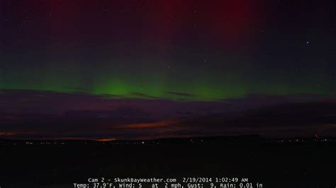 Aurora Borealis Stuns Seattle Stargazers Q13 Fox News Lights Seattle 2014