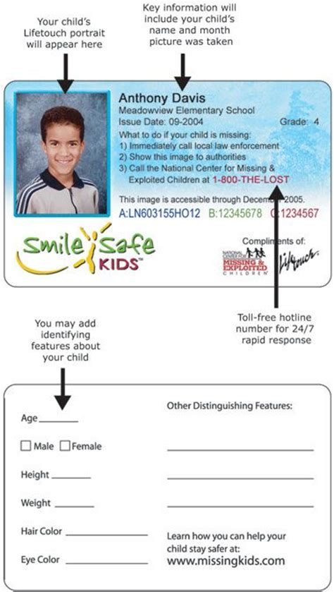 free printable id cards online 26 best images about dyi kids id cards you can put