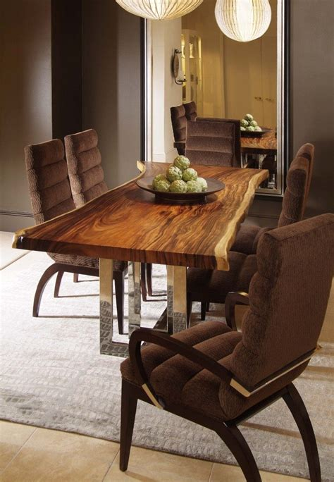 wood slab dining tables  steal  show