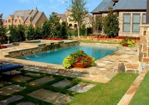 Design A Swimming Pool Backyard Swimming Pool Designs With Awesome Landscaping