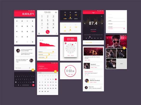 material design html ui kit free material design ui kit on behance