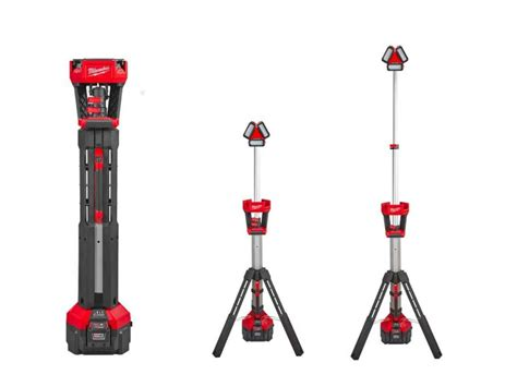 milwaukee light milwaukee m18hsal 0 m18 rocket led tower light 110v output