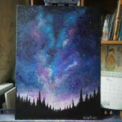 acrylic painting sky tutorial juliabulletblog galaxy sky acrylic painting i