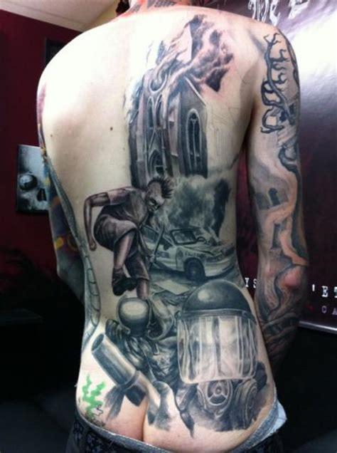 tatuaggio realistici schiena di nephtys de l etoile