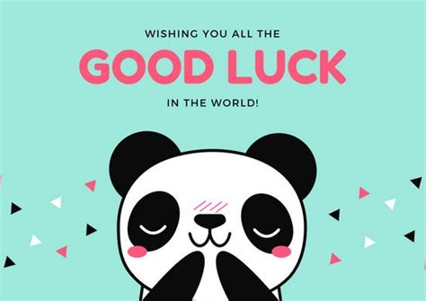 customize 19 good luck card templates online canva