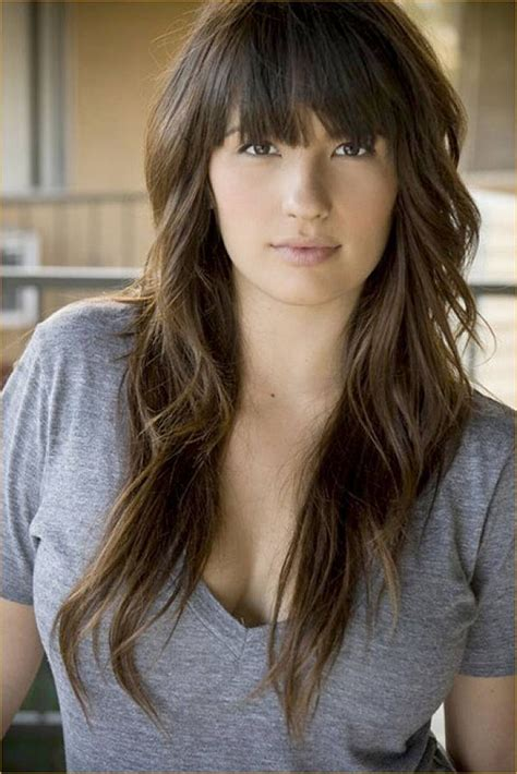 current haircuts and styles casual hairstyles with fringe long hair with fringe ideas