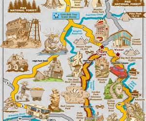 colorado map tourist attractions map travel