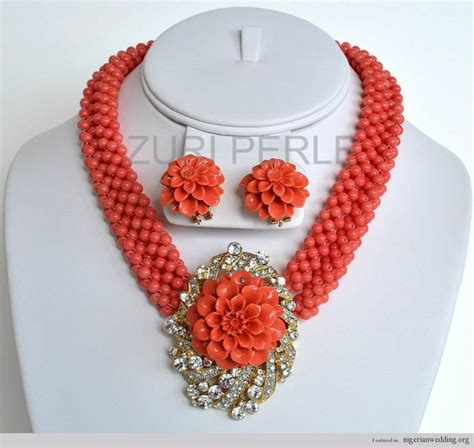 pictures of latest beads in nigeria nigerian wedding peach coral beads traditional