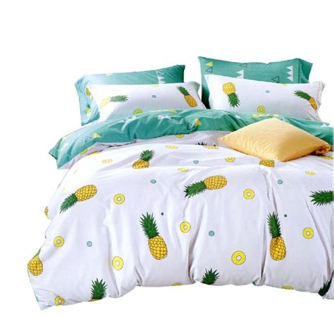 pineapple bedding set 100 cotton duvet cover with pillow