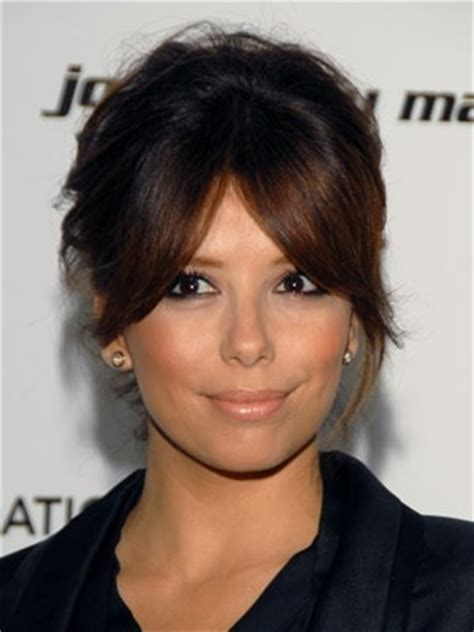 short hairstyles with center part and bangs center part bangs whilst they grow hair and nails